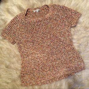 CAbi Confetti Sorbet Open Knit Sweater Top